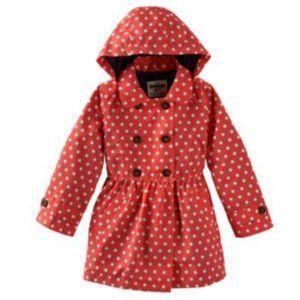 OshKosh Red Polkadot Skirted Raincoat
